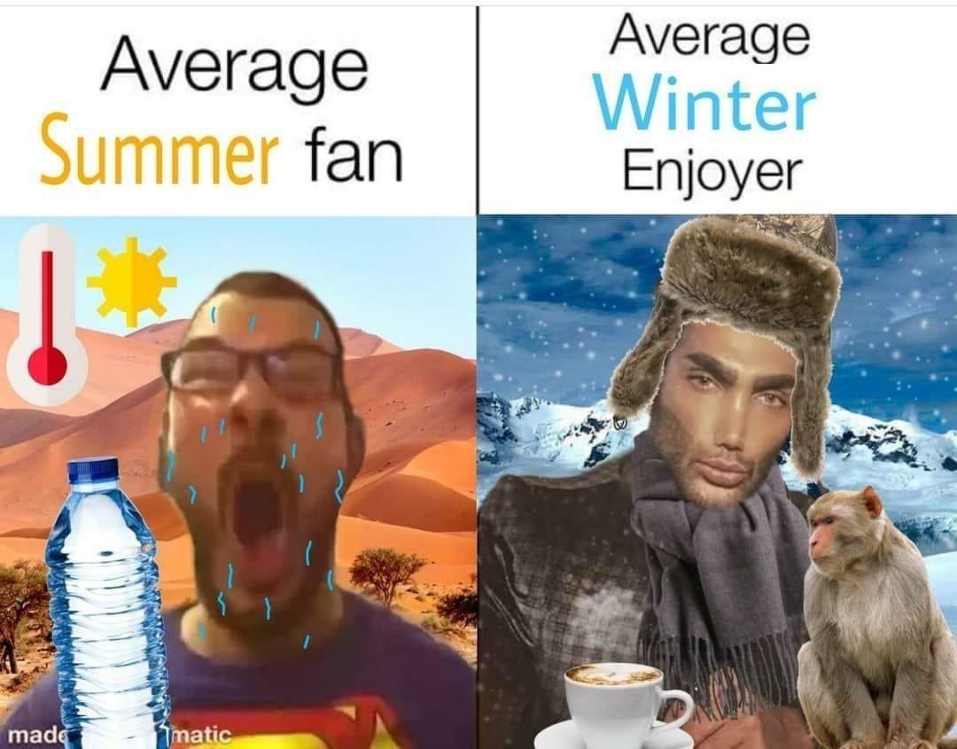 Mejor el invierno - meme