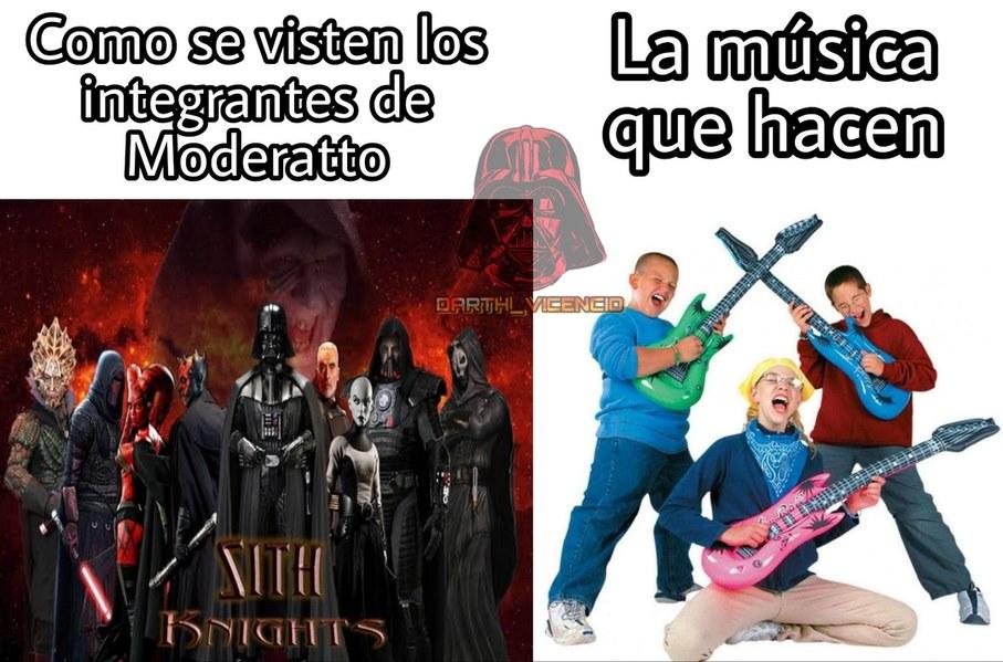 """Moderatto, una banda de """"rock"""" muy criticada por los rockeros porque no hacen rock y tienen pesima musica. - meme"""