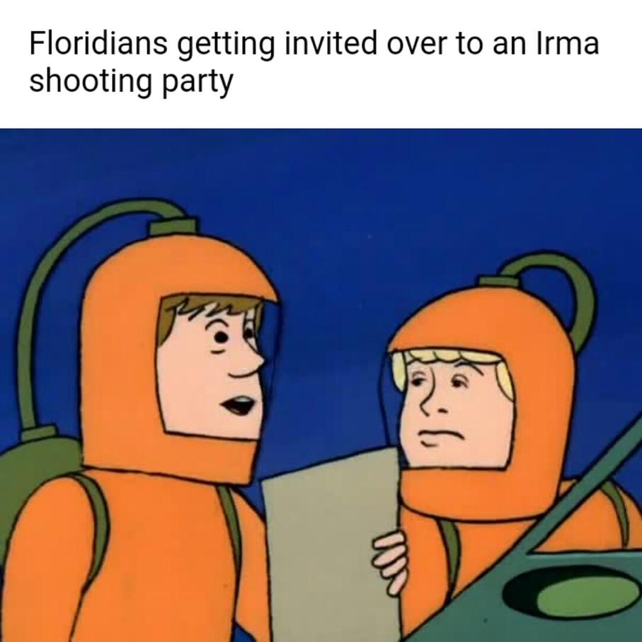 Shoot the hurricane - meme