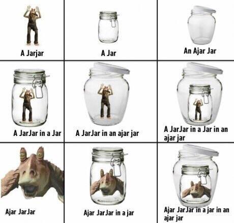 jar jar in a jar - meme