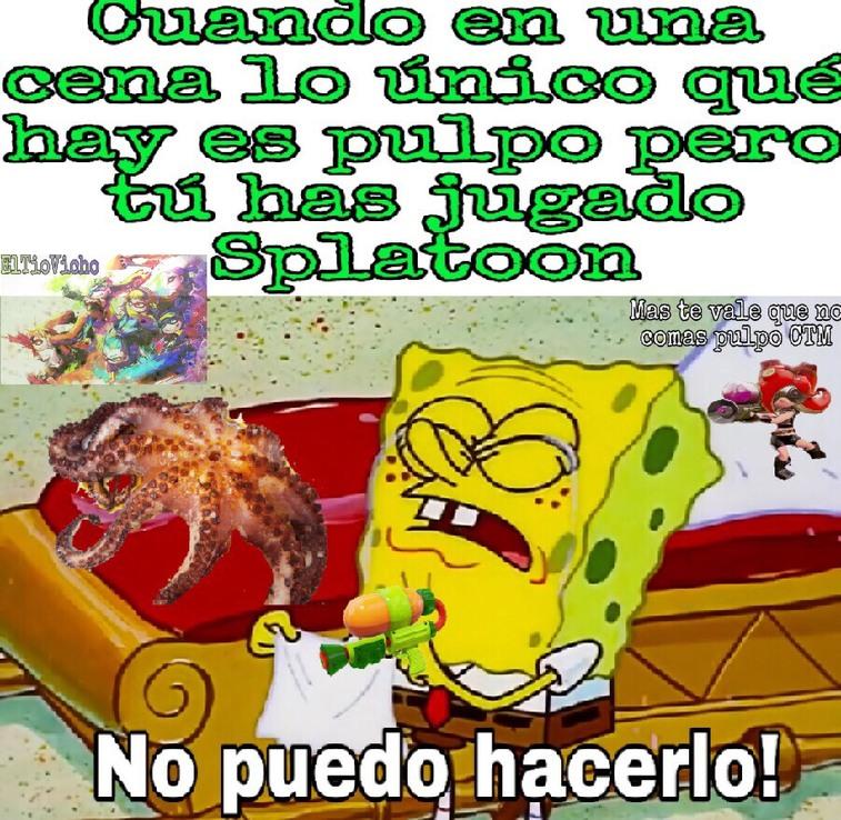 Para el que no entienda en Splatoon hay personajes llamados Octoling que son pulpos - meme