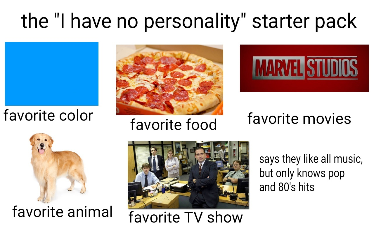 dongs in a personality - meme
