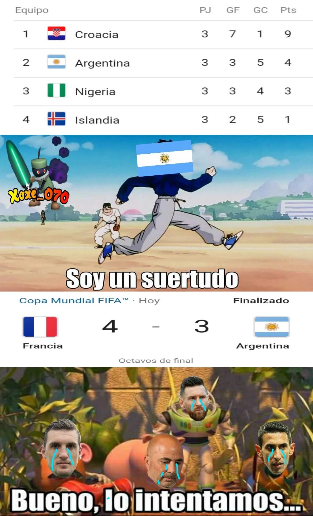 Jasjas sampaoli es el chancho jasjas, cago argentina XD - meme
