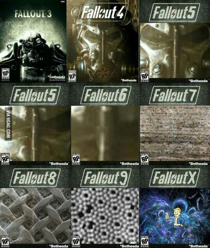 Fallout cover art in a nutshell - meme