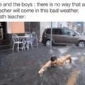 Teacher of the maths