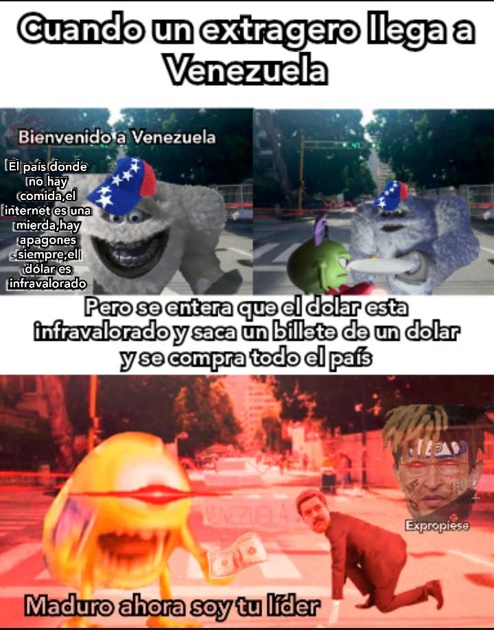 Mike el extrangero compra Venezuela por un dolar¯\_(ツ)_/¯ - meme