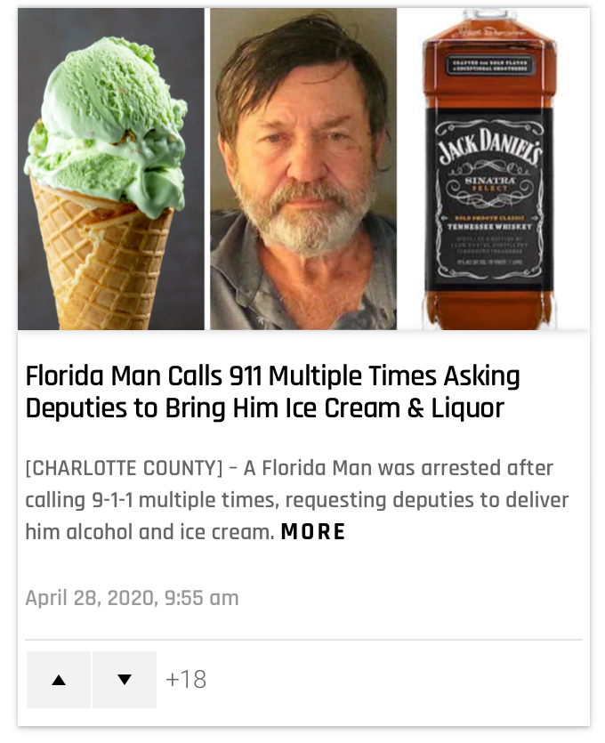Florida man: the Florida strikes back - meme