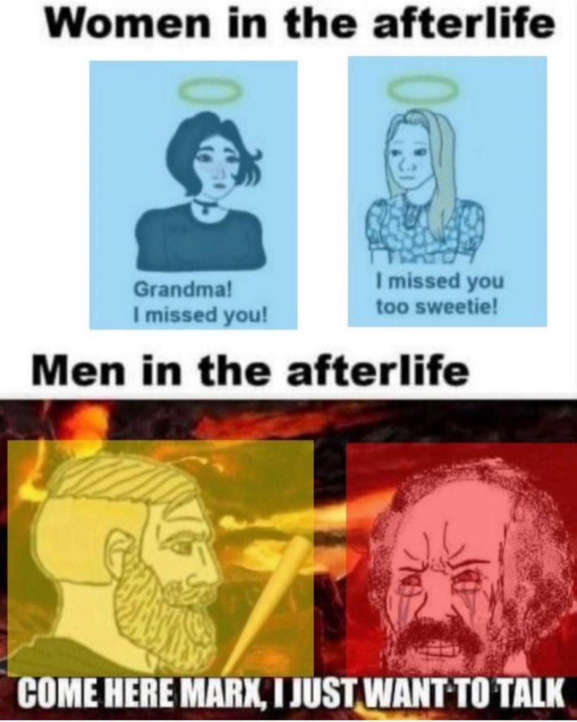 It won't work in the afterlife either - meme