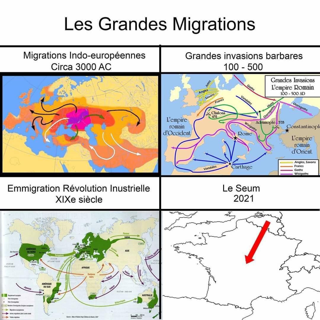 Les migrations - meme