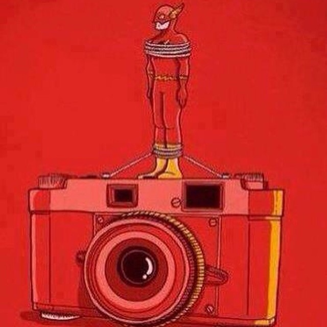 foto con flash - meme