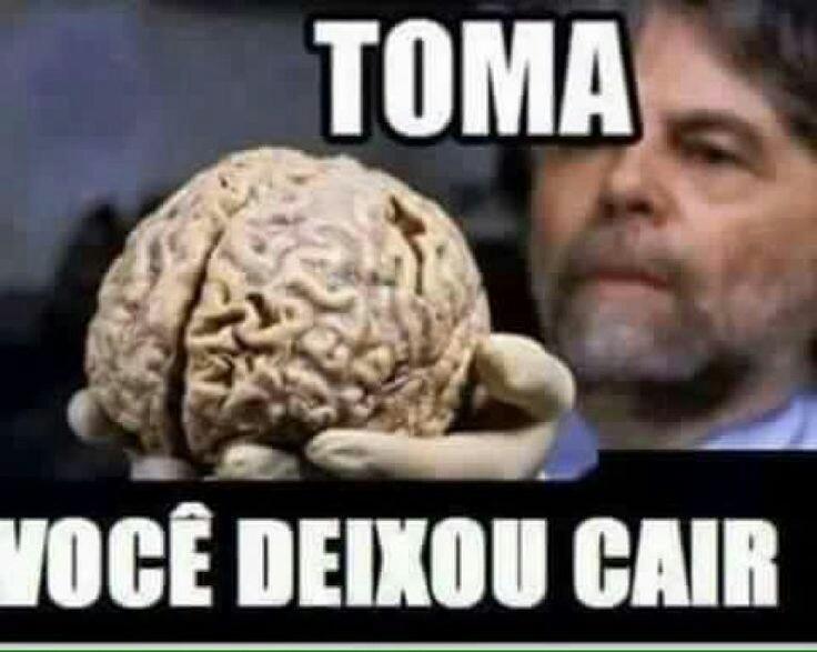 Cérebro de quem negativa os parsa - meme