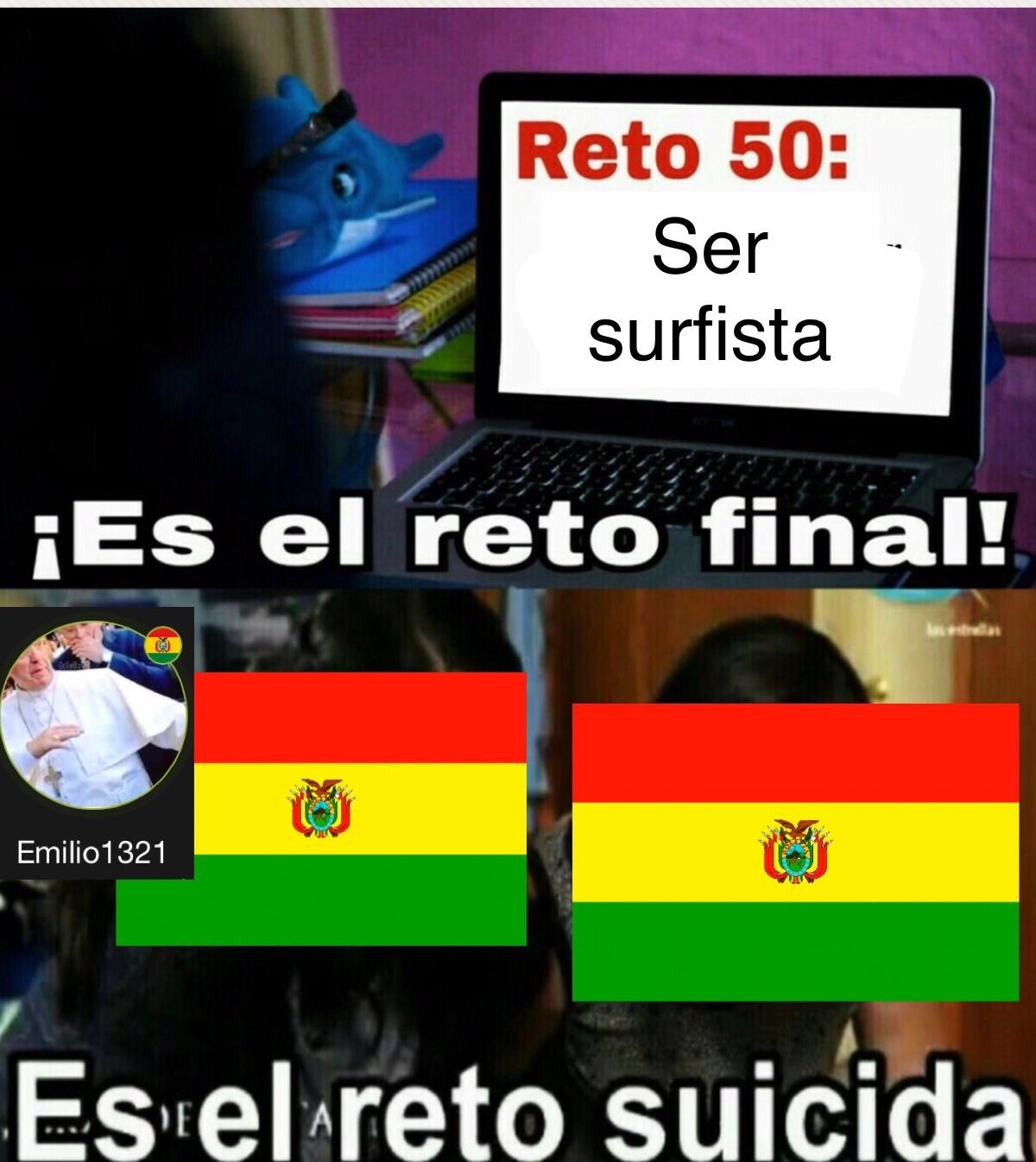 Bolivia no tiene mar - meme