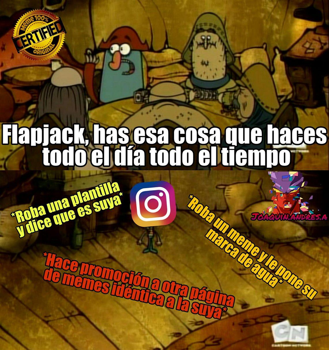 Original y nueva plantilla :D | Pasaré la plantilla si aceptan el meme | Todas las páginas de memes de instagram son así :|