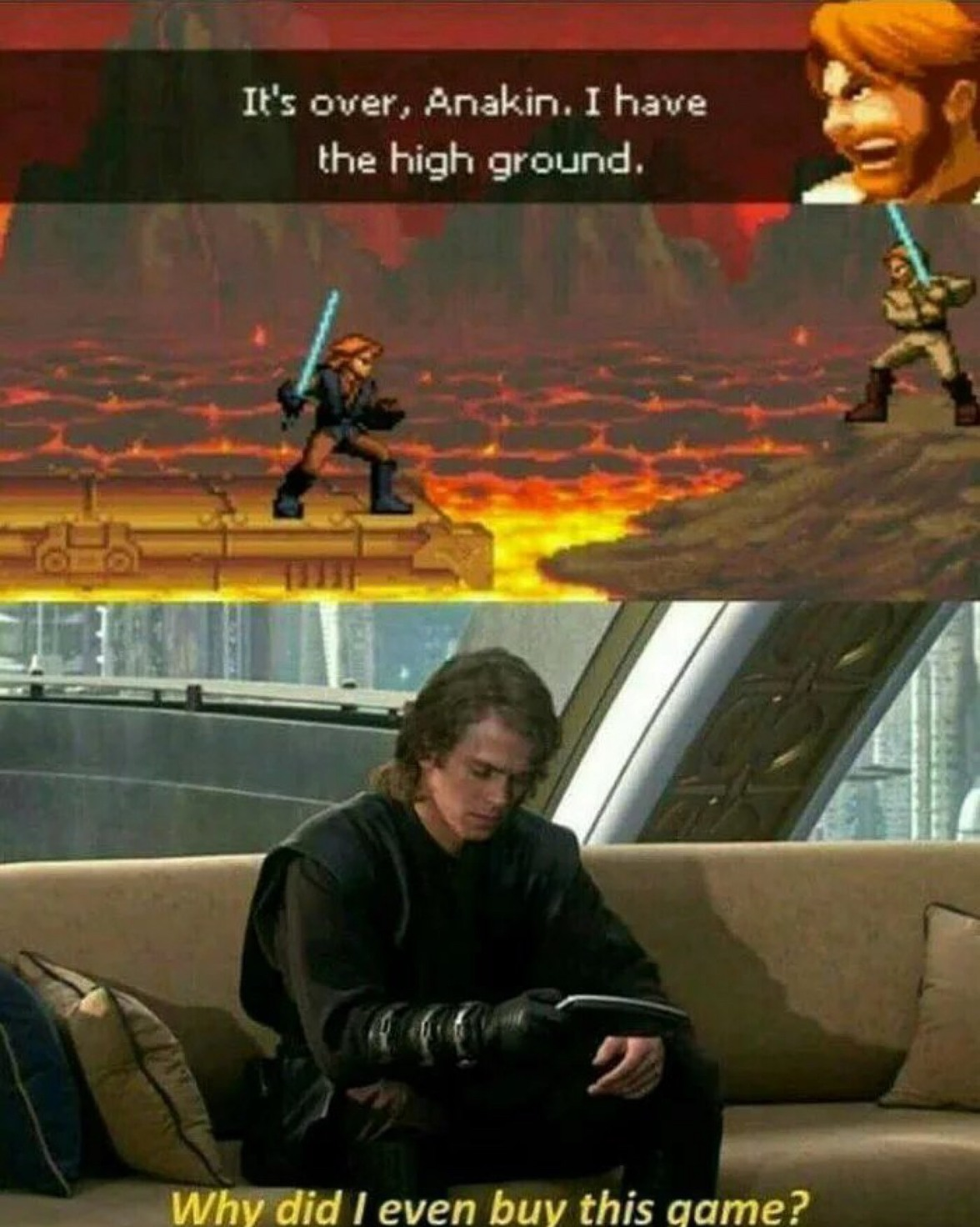 I used to love that game, it's Star Wars Revenge of The Sith for DS - meme