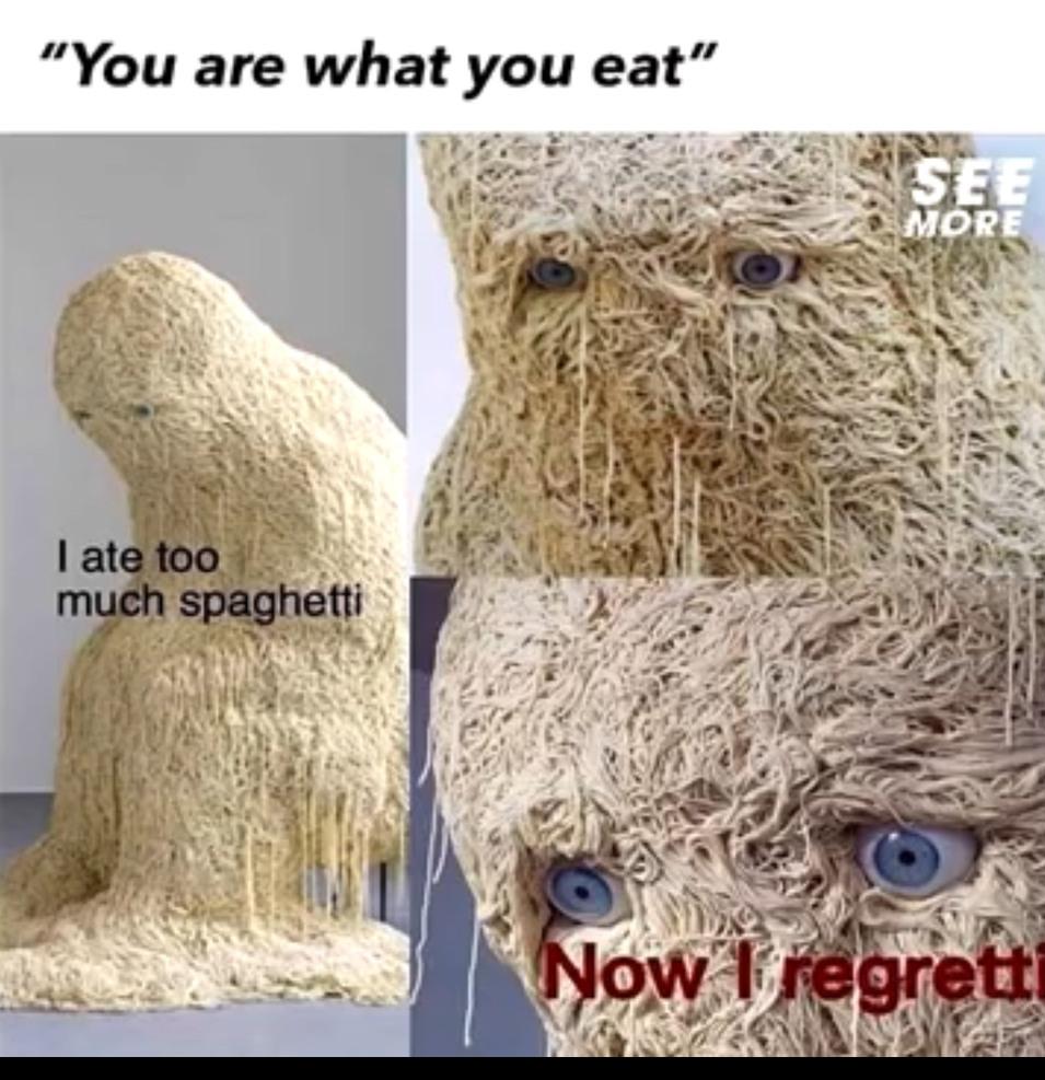 Spaghetti regretti - meme