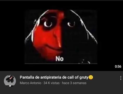 Hasta ya la hicieron una pantalla anti-piratería - meme