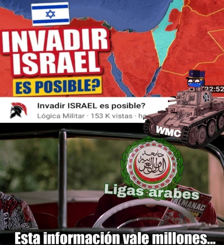 No ligas árabes, no podrán invadir Israel - meme