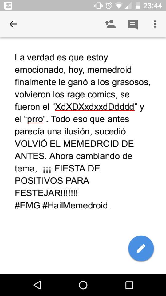 VOLVIO EL MEMEDROID DE VERDAD