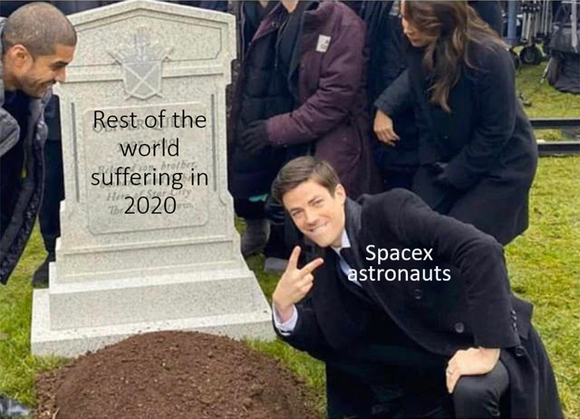 Spacex astronauts are safe now - meme