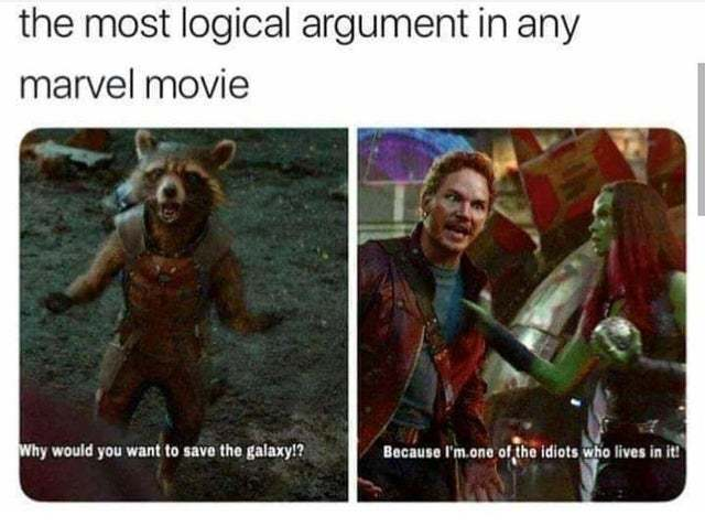 The most logical argument in any Marvel movie - meme
