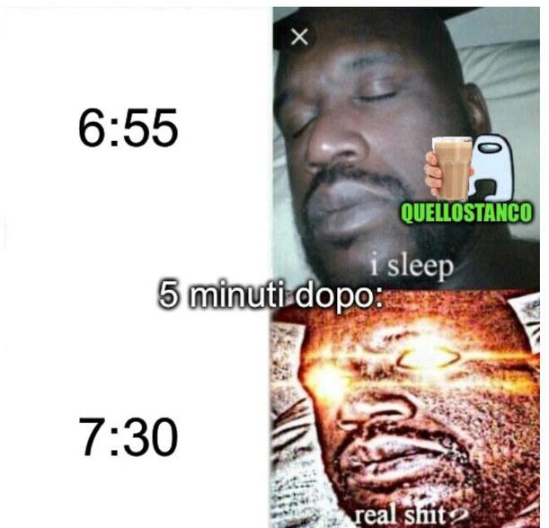 Io ogni giorno di scuola - meme
