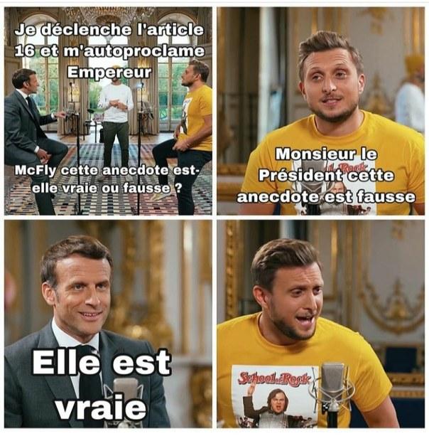 Macron Ier, Empereur des Gaules - meme