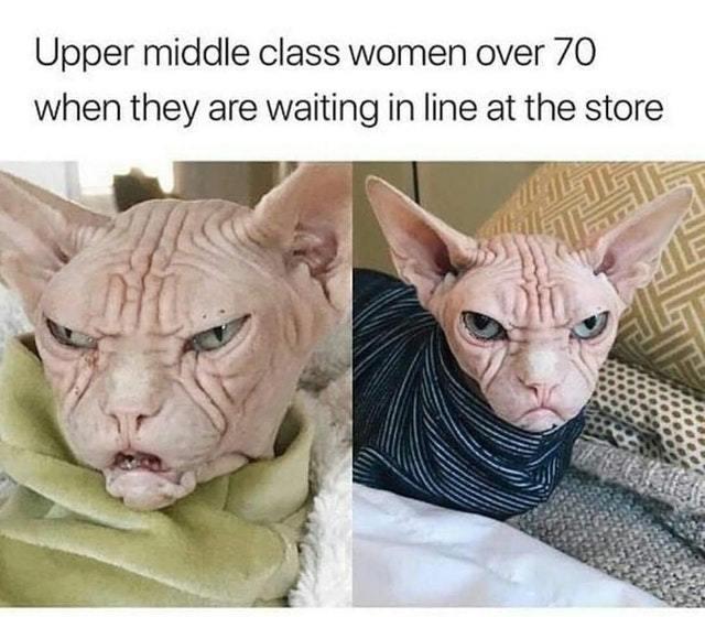 Women over 70 - meme