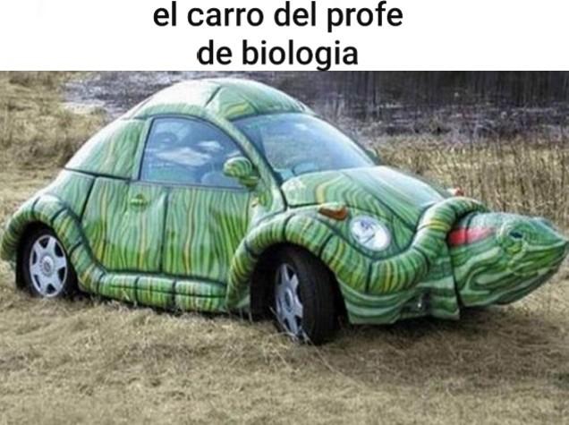 carro biologo - meme