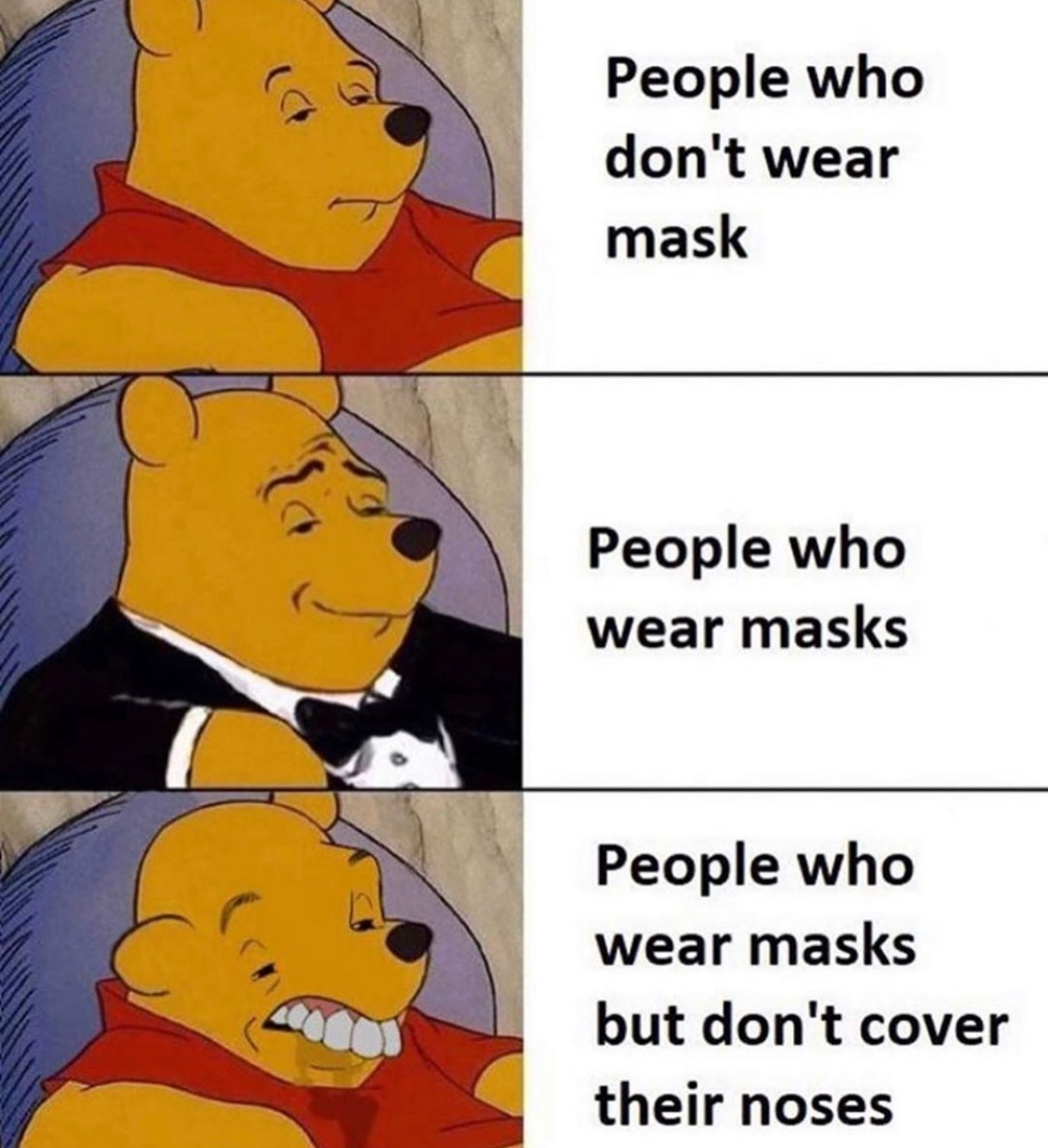 those masks are hard to breathe with - meme
