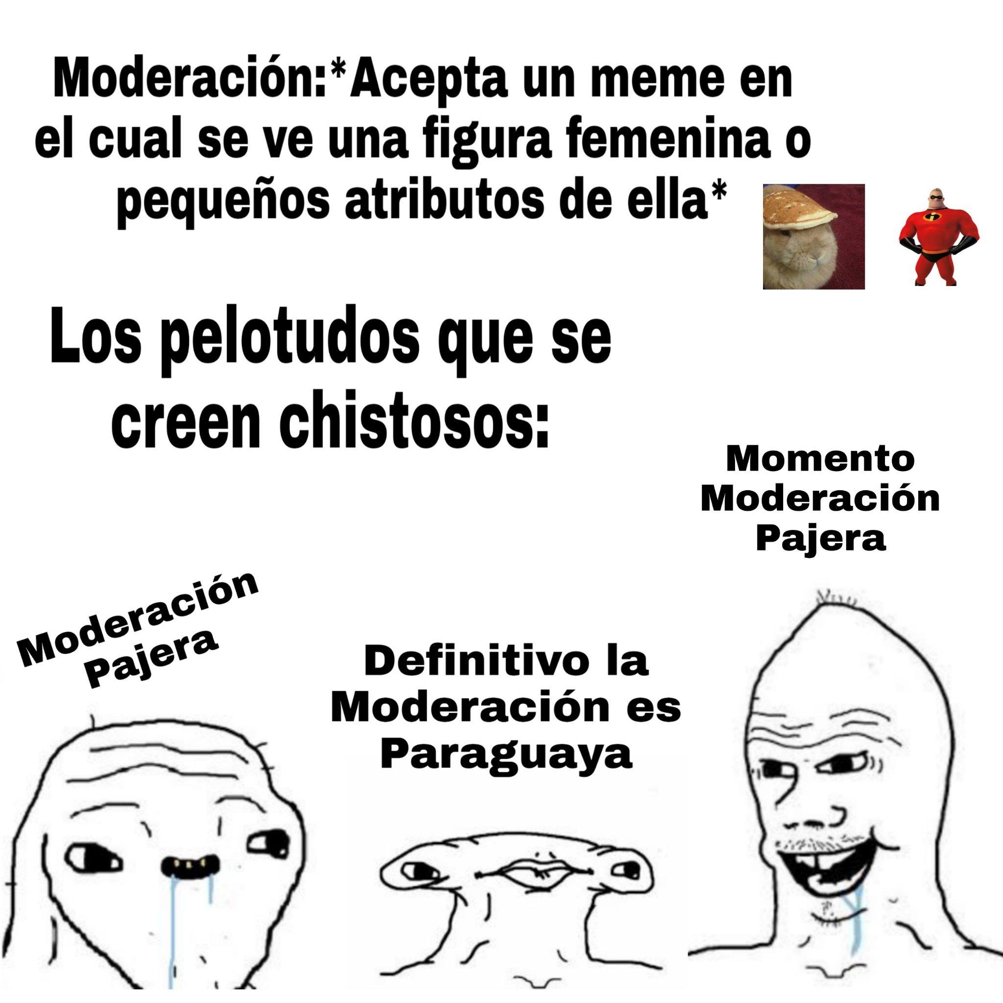 No sabia si poner Moderadores o Moderación (Momento Moderacion Pajera) - meme