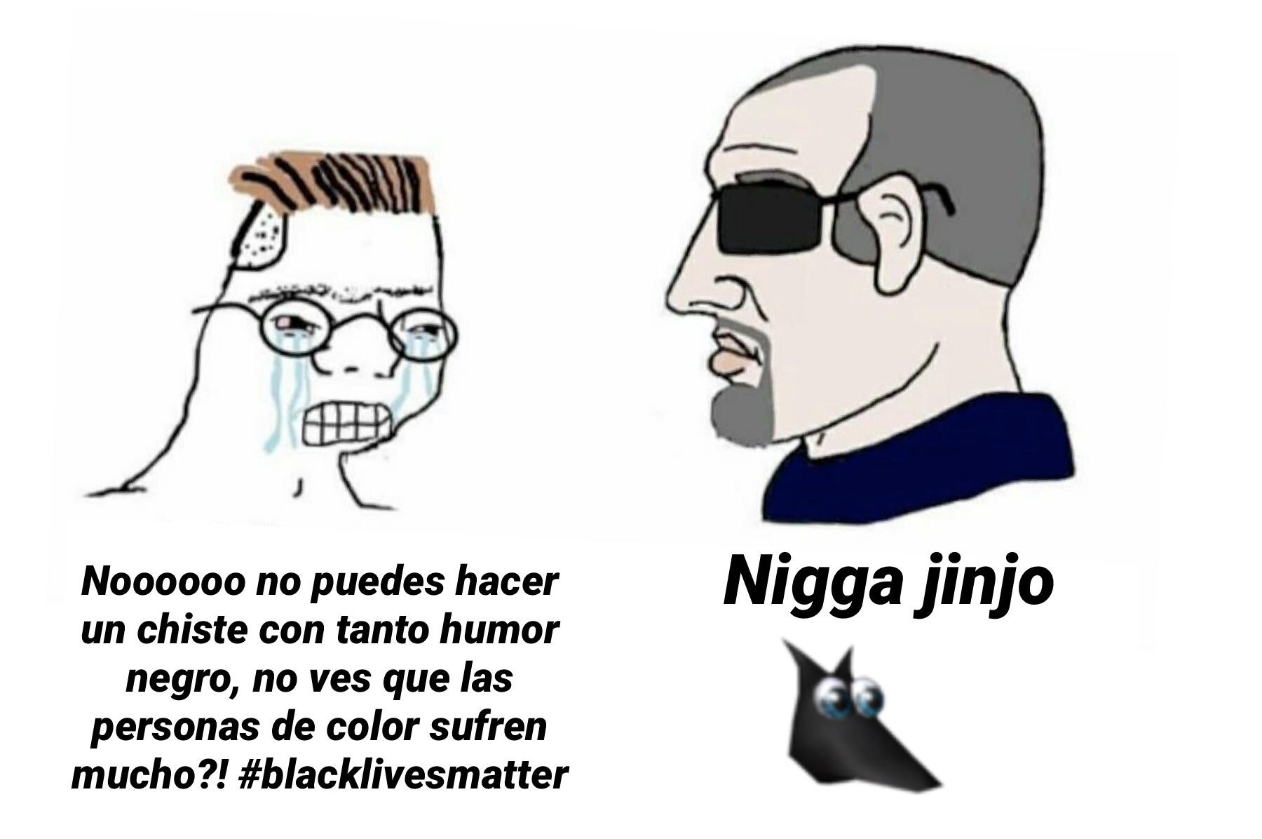 Es tan negro que iba a usar una foto con fondo negro y no pude recortar bien porque estaba bien negro xd - meme