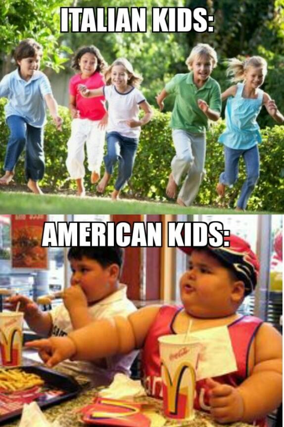 Italians > americans - meme