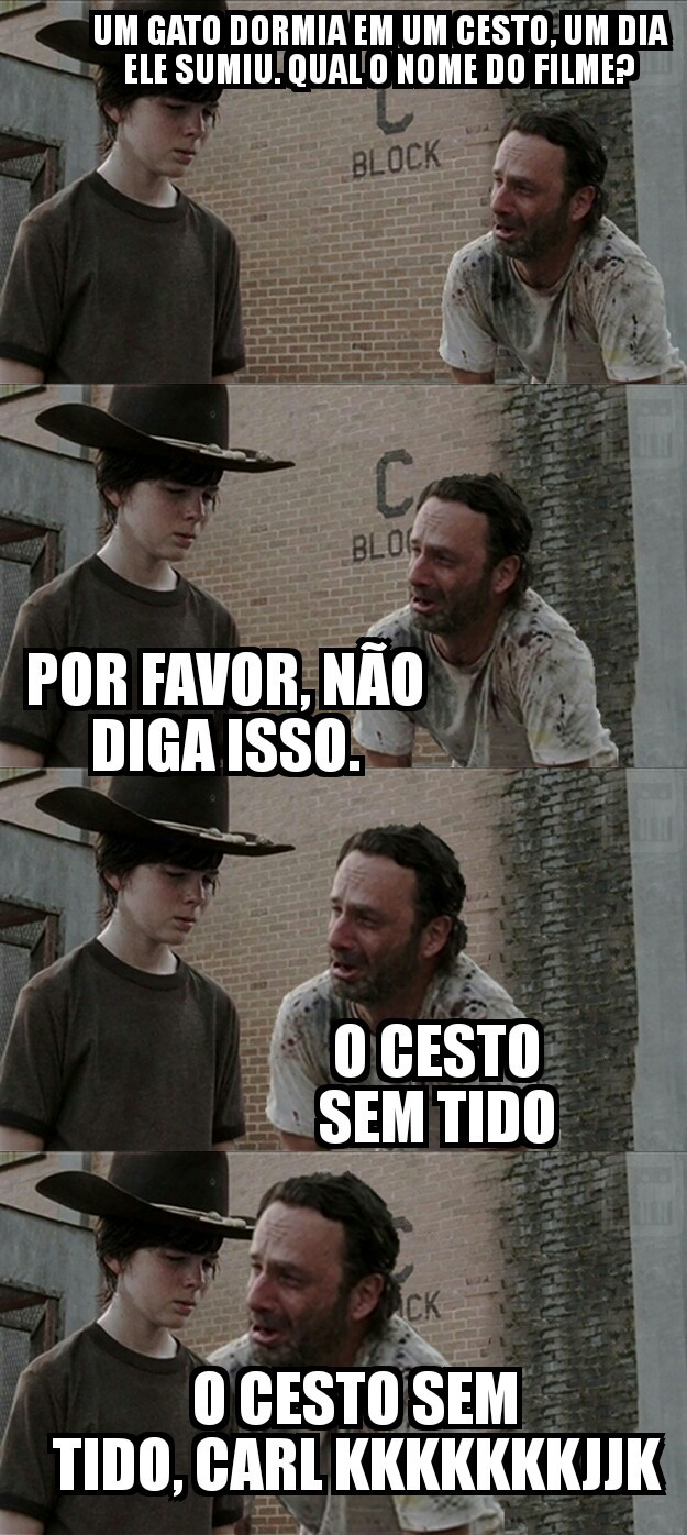 CARL E RICK AS AVENTURAS DO TIDO - meme