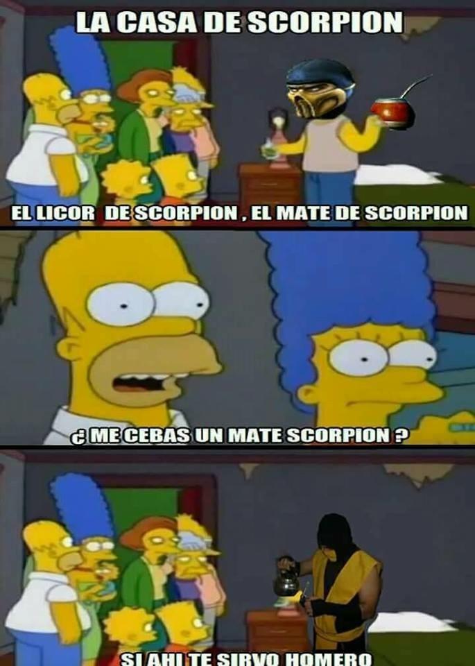 El mate, el cebador de scorpions - meme