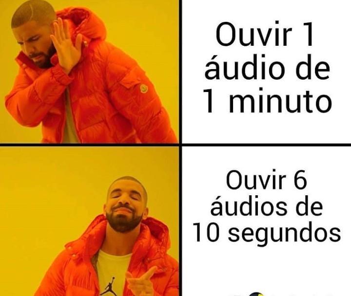 1 minuto é demais - meme