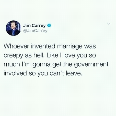 Well, Jim definitely is not an option as a relationship adviser - meme