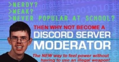 They wont let me be a discord mod - meme