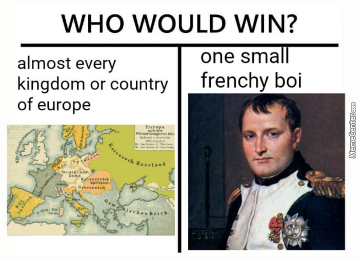 Never underestimate the French - meme