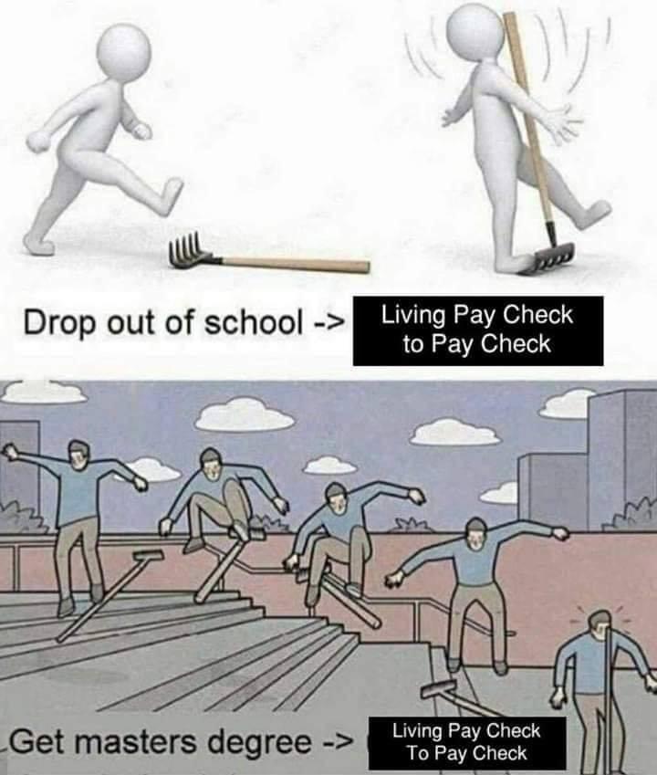 raking up that knowledge - meme