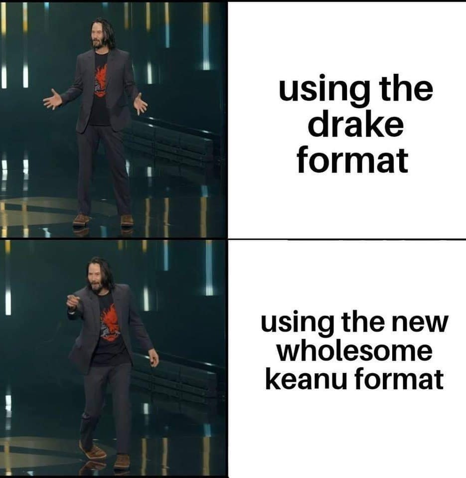 Wholesome Keanu - meme