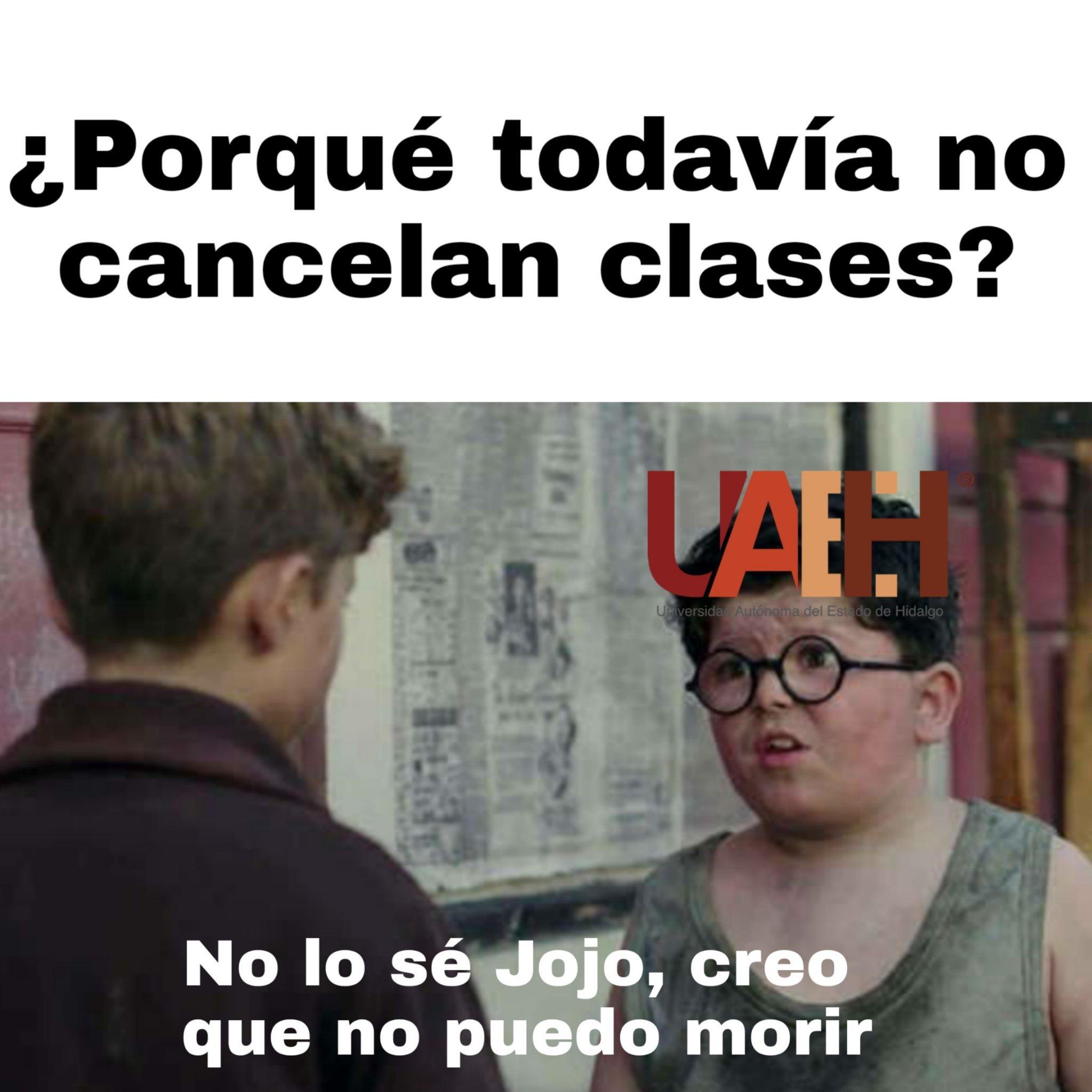 Mi universidad no canceló clases :c - meme