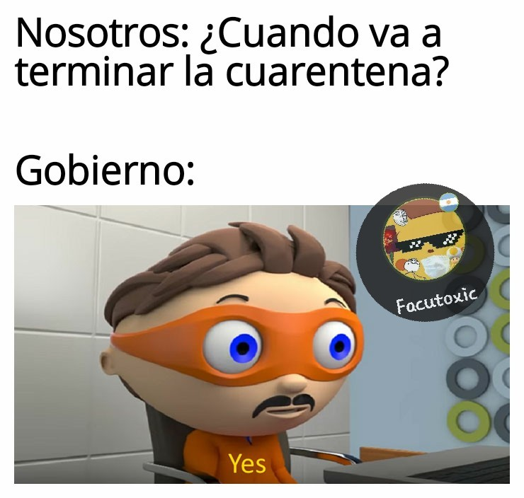 La cuarentena eterna - meme