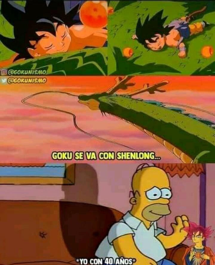 Goku se transforma en shenglong? - meme
