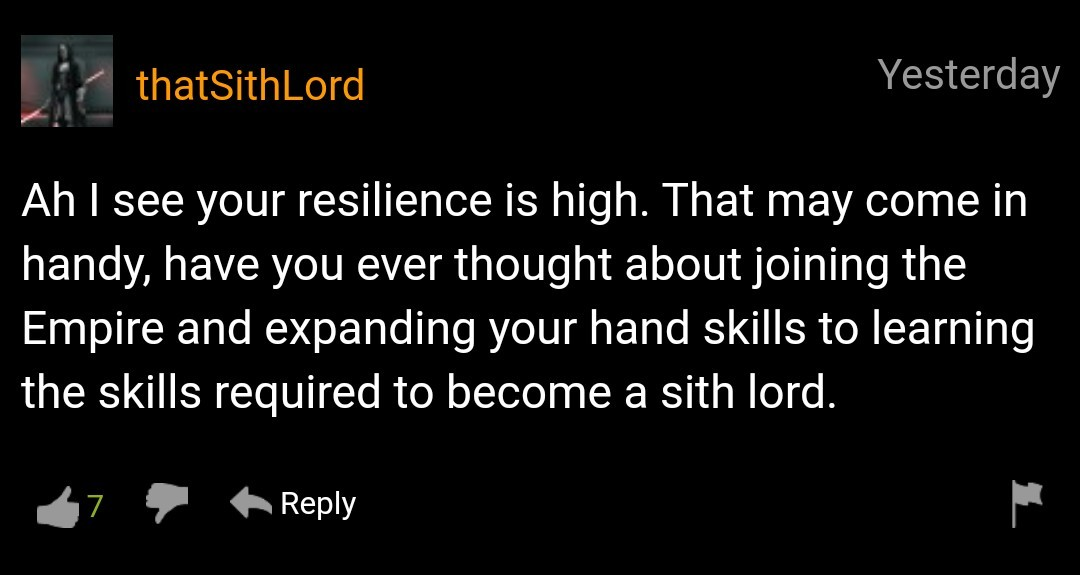 You underestimate the power of dark side - meme