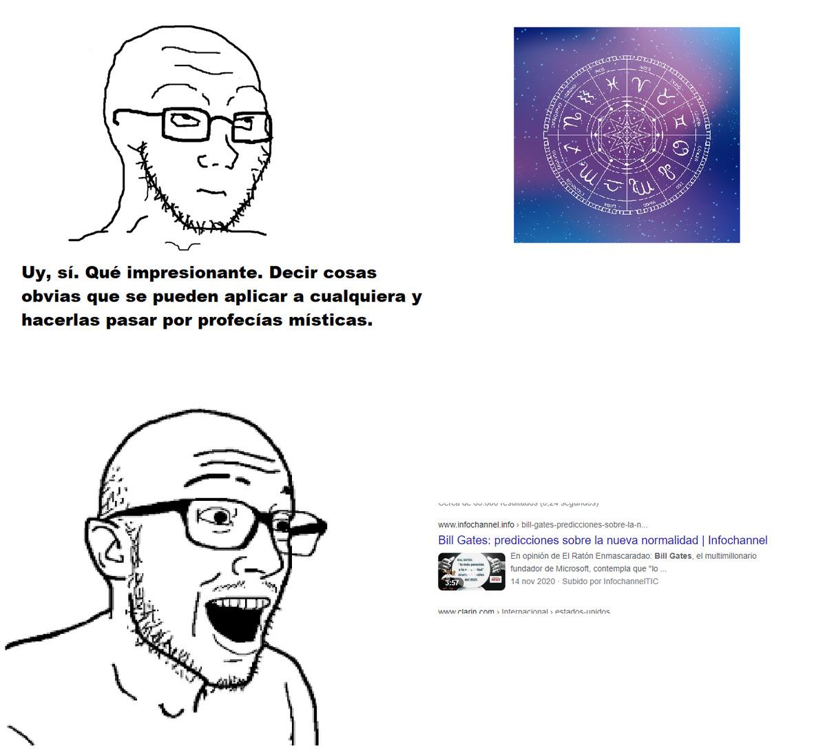 """Al """"analizar"""" las """"predicciones"""" de Bill Gates, uno se da cuenta de que no dice cosas que sean impresionantes. Incluso algunas deberían ser cosas de sentido común. - meme"""
