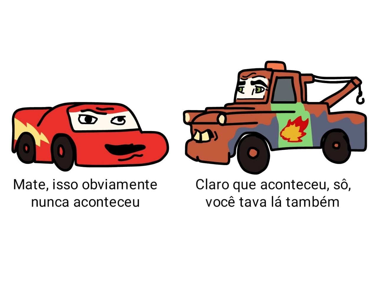 curtas do Mater - meme