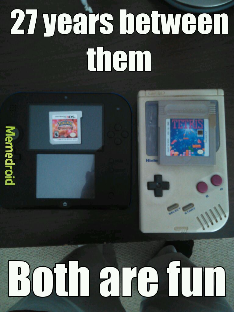 Handheld games - meme