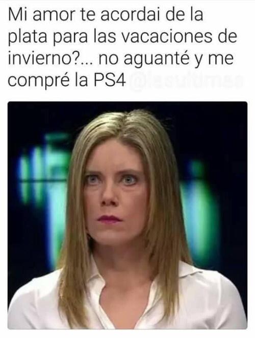 Mi PS4 - meme