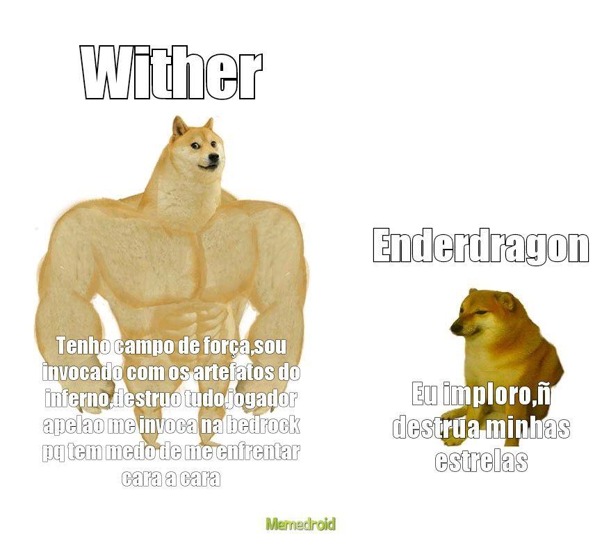 Wither vs enderdragon - meme