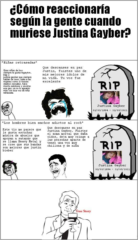 ¿Como reaccionan según la gente cuando muere Justin Bieber? - meme